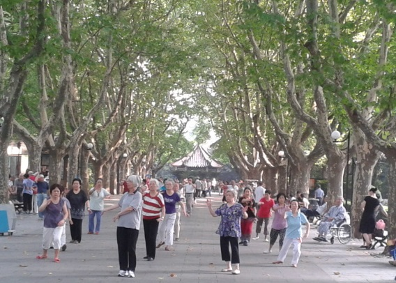 senior fitness in the parks of china