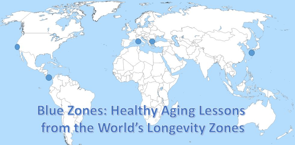 healthy aging in blue zones