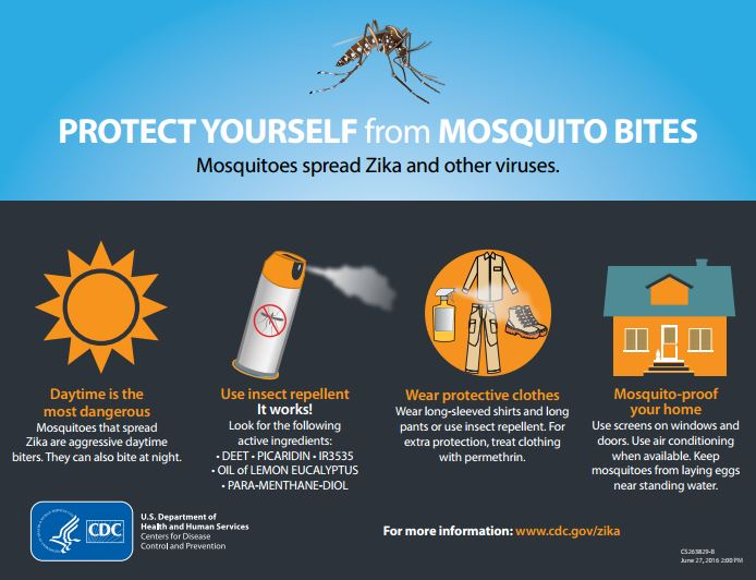 zika virus mosquito bite protection